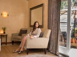 The relaxation room at Health Spa Montecito