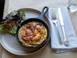 Pearl—Spanish frittata with romesco
