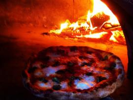 Wood Burning Oven at Cibo Rustico Pizzeria