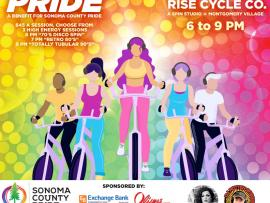 "RISE Cycle Co. & Sonoma County Pride Presents: ""RIDE WITH PRIDE"" Photo"