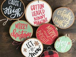 Artxcursion presents Wood Round Ornament Paint Party Photo