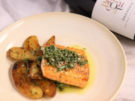 Virtual Event: In the Kitchen with Bricoleur - Salmon with Leeks, Potatoes & Salsa Verde Photo