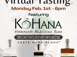 Virtual Event: Rum Tasting with Ko Hana Hawaiian Agricole Rum Photo