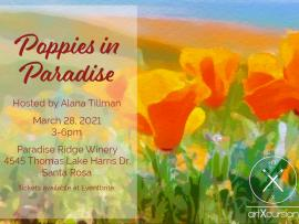 Poppies in Paradise Paint Party Photo