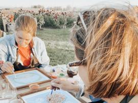 Dahlia Farm Sign Painting Event Photo