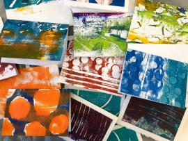 Monoprinting Gift Wrap, Cards and more Photo