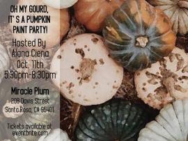 Oh My Gourd it's a Pumpkin Paint Party Photo