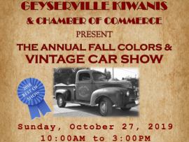 Geyserville Fall Colors and Vintage Car Show Photo