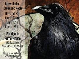 Artxcursion Presents: Crow Under Crescent Moon Paint Night Photo