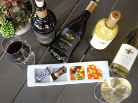 Halloween Wine and Candy Pairing Photo