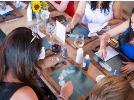 Baldassari Wine Lounge Mixer + Sign Painting Event Photo