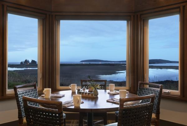 Drakes Sonoma Coast—Dining room bay window overlooking the outdoor sanctuary Photo 2