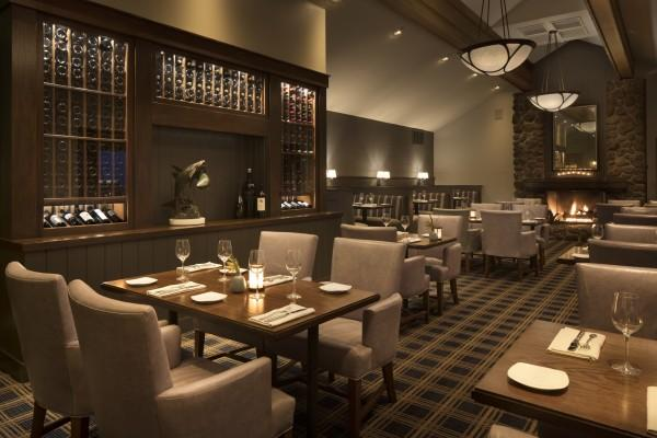 Drakes Sonoma Coast—dining room with new wine display, cozy booths and fireplace Photo 3