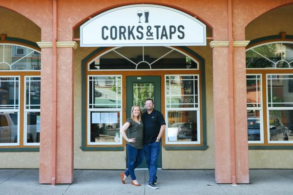 Corks & Taps Owners Nicole and Floyd Wells Photo 6