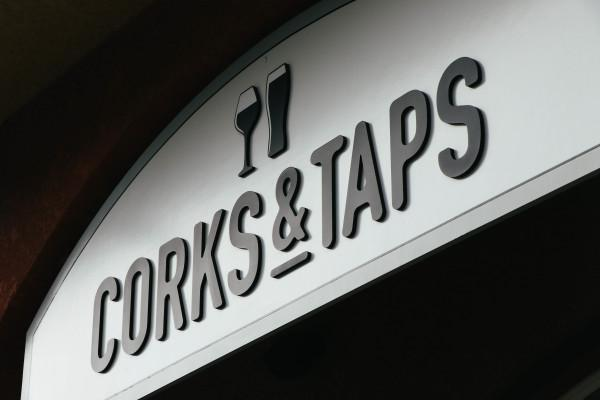 Corks & Taps Sign Photo 2