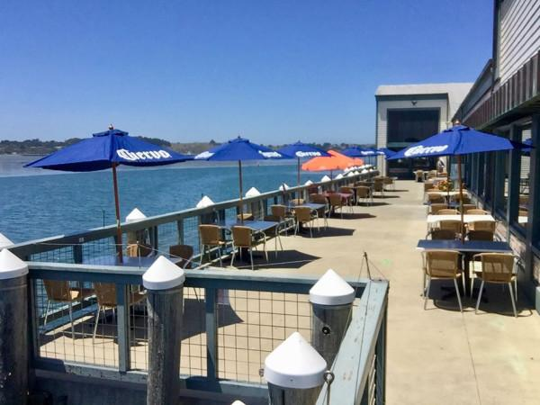 Outdoor dining at the Tides Wharf Restaurant Photo