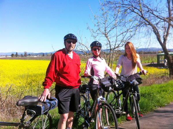Vibrant Mustard Fields! - Fields of mustard on beautiful scenic trails on route to wineries with Ace It Bike Tours Photo 5