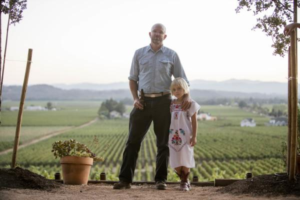 Jake and Frances Hawkes at Red Winery - The Red Winery Vineyard was planted by Stephen and Paula Hawkes in 1973. Photo 2