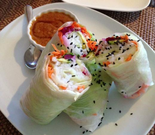 Tiny Thai fresh rolls Photo