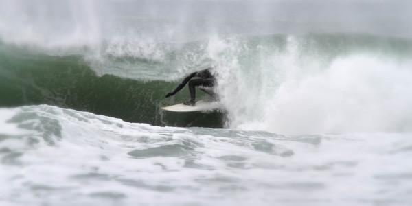 Surfing on the Northern California coast Photo