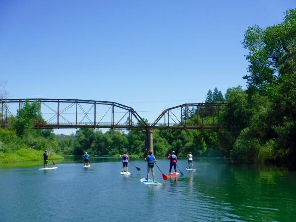 Paddle under the Wohler Bridge Photo