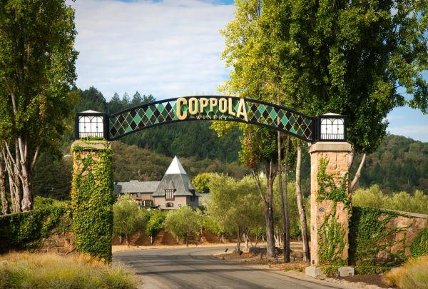 The entrance to Francis Ford Coppola Winery Photo 2