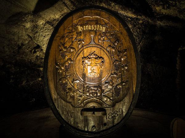 Buena Vista Winery Champagne Cellars Cave - Haraszthy Cask in Champagne Cellars Cave Photo 3