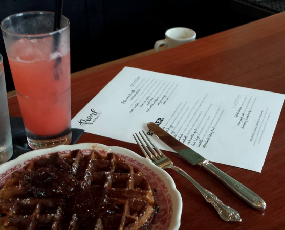 Pearl—Warm waffle with strawberry fig jam Photo 2