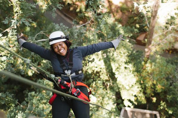 End the tour by rappelling out of a redwood tree! Photo 6