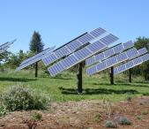 Solar Energy Runs The Farm - Our sun-tracking solar arrray provides energy for the dairy barns and homes at Redwood Hill Farm. Photo 11