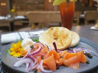 River Vine Café - Bagel with Atlantic Smoked Salmon and Bloody Mary Photo 2