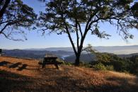 Gustafson Family Vineyards picnic area at sunrise Photo