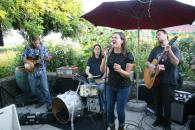 Hawkes Summer Nights - B and the Hive on the patio in Alexander Valley. Food for sale in the garden. Saturdays 4-7pm. Visit our events page for full schedule. Photo 5