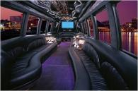 inside limo bus Photo