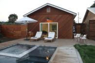 The pool house. Photo 9