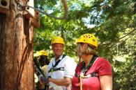 Couple enjoying Sonoma Canopy Tours Photo