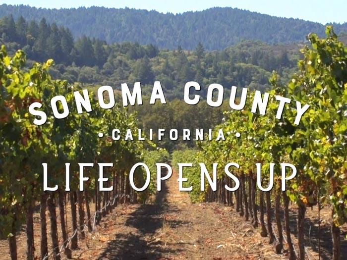 Sonoma County Life Opens Up logo
