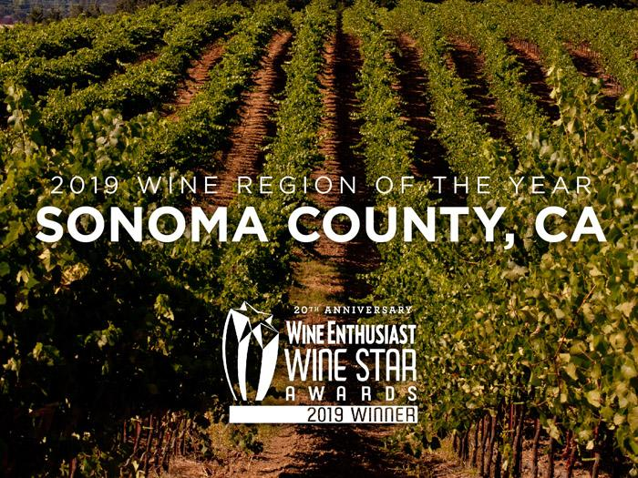 Wine Enthusiast Award Sonoma