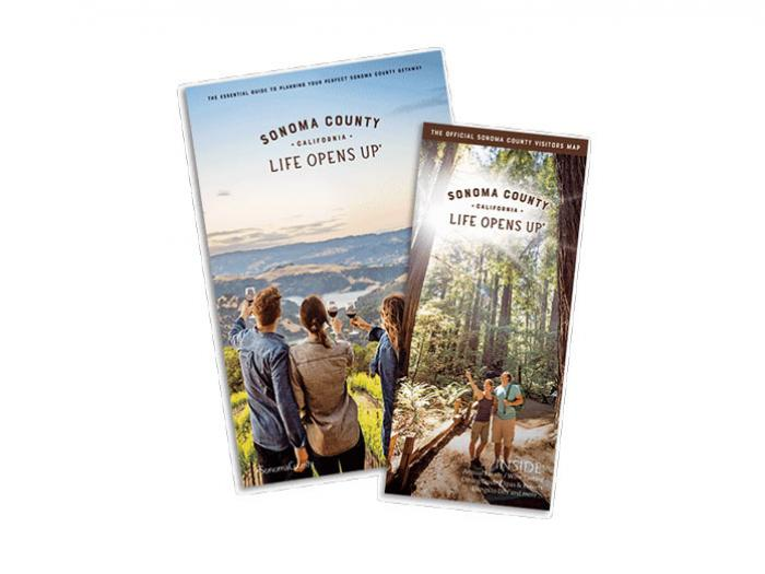 Covers of the visitor guide and map