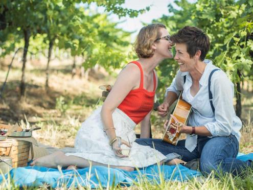 Enjoy a picnic in the vineyards in Sonoma County Wine Country