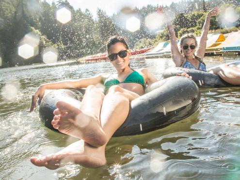 Go tubing on the Russian River in sunny Sonoma County