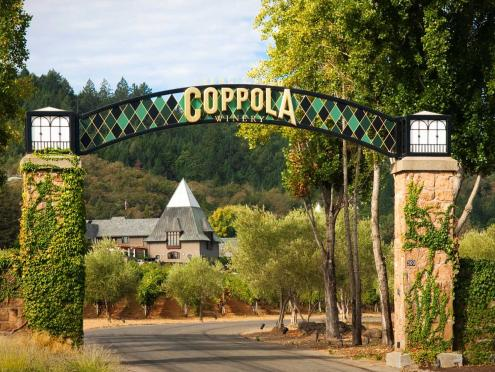 Francis Ford Coppola winery entrance