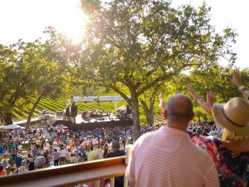 Image of crowd at Sonoma Harvest Music Festival