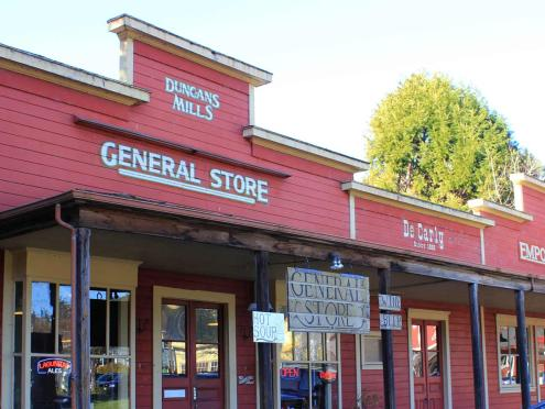 The exterior of the general store in Duncans Mills