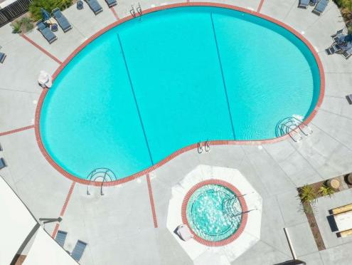 overhead picture of outdoor pool