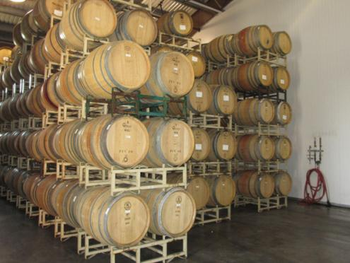 Pellegrini barrel room Sonoma County