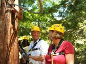 Couple enjoying Sonoma Canopy Tours