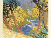 "Gustave Baumann: ""Point Lobos"", color woodcut, 1936"