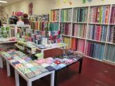 Yards of fabric at StitchCraft in Petaluma